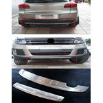 VW Tiguan rear + front bumper protection cover stainless...