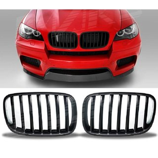 For Bmw X6 E71 & X5 E70 M Look Matt Black Grill