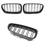 For BMW 5 Series F10 & F11 M-Tech Look Grill Black High...